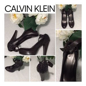Calvin Klein Brown Leather Shoes Size 8.5
